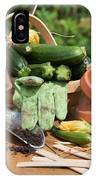 Courgette Basket With Garden Tools IPhone Case