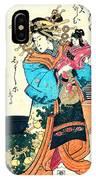 Courtesan Takimoto 1818 IPhone Case