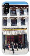 Courtyard Entry To Potala Palace In Lhasa-tibet IPhone Case