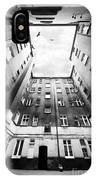 Courtyard In Black And White IPhone Case