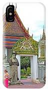 Courtyard In Wat Po In Bangkok-thailand IPhone Case