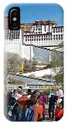 Courtyard Of Potala Palace In Lhasa-tibet IPhone Case