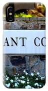 Covenant College Sign IPhone Case