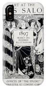 Cover For Art At The Paris Salons IPhone Case