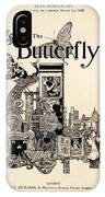 Cover Of The Butterfly Magazine IPhone Case