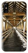 Covered Bridge Littleton New Hampshire IPhone Case