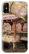 Covered Bridge On The River Walk IPhone Case