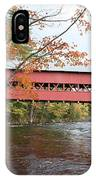 Covered Bridge Over Swift River IPhone Case