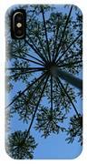 Cow Parsley Outlined Against A Summer Sky IPhone Case