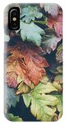 Cow Parsnip Leaves In The Fall IPhone Case