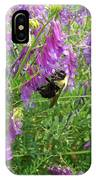 Cow Vetch Wildflowers And Bumble Bee IPhone Case