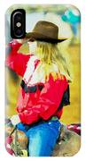 Cowgirl Waiting IPhone Case
