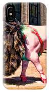 Cow Parade N Y C 2000 - Prima Cowlerina IPhone Case