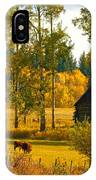 Cows Grazing 3 IPhone Case