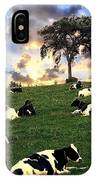 Cows In Pasture IPhone Case