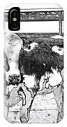 Cows Pencil Sketch IPhone Case