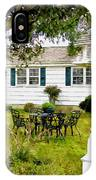 Cozy Little Back Yard Terrace With Table And Chair IPhone Case
