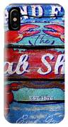 Crab Shack IPhone Case
