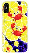 Crabs On Lemon IPhone Case
