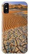 Cracking Dirt And Dunes Namib Desert IPhone Case