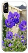 Cranesbill Blue Geranium IPhone Case