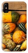 Crate Filled With Pumpkins And Gourts IPhone Case