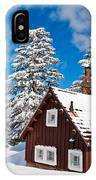 Crater Lake Home - Crater Lake Covered In Snow In The Winter. IPhone Case