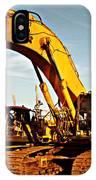 Crawler Excavator - Komatsu - Digger - Machinery IPhone Case