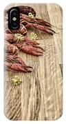 Crayfish On Wooden Platter. IPhone Case