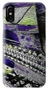 Crazy Cones Purple Greenl2 IPhone Case