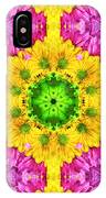 Crazy Daises - Spring Flowers - Bouquet - Gerber Daisy Wanna Be - Kaleidoscope 1 IPhone Case