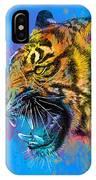 Crazy Tiger IPhone Case