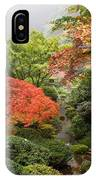 Creek At Japanese Garden In The Fall IPhone Case