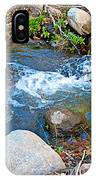 Creek Entering Andreas Canyon In Indian Canyons-ca IPhone Case