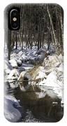 Creek In Winter IPhone Case