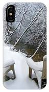 Creekside Chairs In The Snow 2 IPhone Case