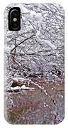 Creekside In The Snow 2 IPhone Case