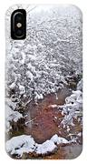 Creekside In The Snow 3 IPhone Case