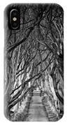 Creepy Dark Hedges IPhone Case