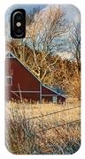 Crescent Barn In Winter IPhone X Case