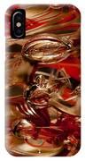 Crimson And Gray Glass Macro Ws2 IPhone Case