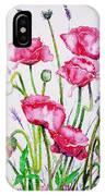 Crimson Poppies IPhone Case