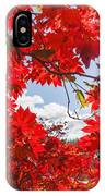 Crimson Red Leaves Background IPhone Case