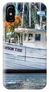 Crimson Tide In Harbor IPhone Case
