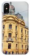 Croatian Railways Administration Building In Zagreb  IPhone Case
