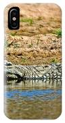 Crocodile In Watering Hole In Kruger National Park-south Africa IPhone Case