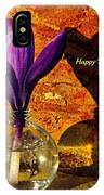 Crocus Floral Birthday Card IPhone Case