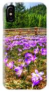 Crocus Flower Valley IPhone Case