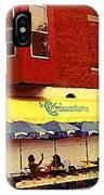 Croissanterie Figaro Parisian Bistro Sidewalk Cafe C Spandau Montreal Premier City Scene Artist IPhone Case