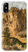 Croooked River Around The Jagged Peaks IPhone Case